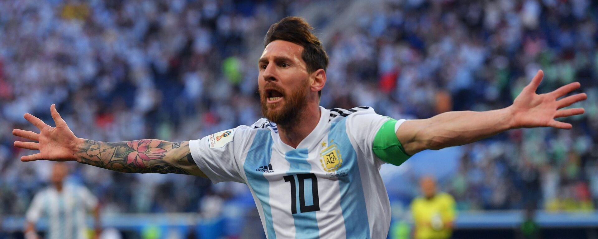 Lionel Messi celebra un goal - Sputnik Italia, 1920, 07.08.2021