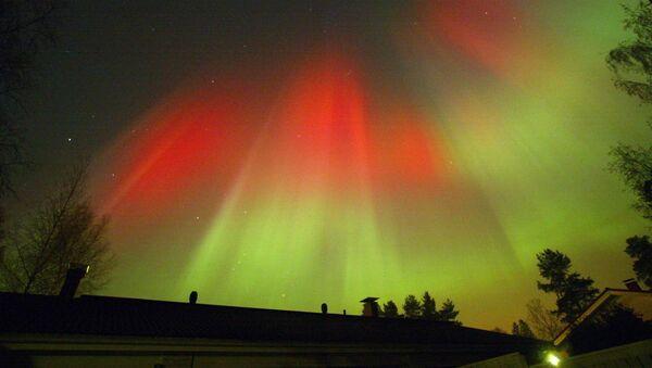 L'aurora boreale, ripresa nei cieli notturni di Hyvinkää, in Finlandia - Sputnik Italia