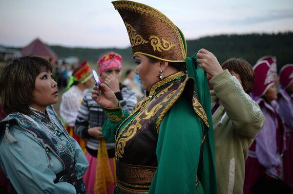 Villaggio di Ulagan, nella Repubblica dell'Altay. Qui si è svolta la festa per il 150° dell'unione del popolo dei Telenghiti alla Russia. - Sputnik Italia