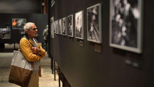 Un visitatore della mostra dedicata alle foto vincitrici del concorso Stenin - Sputnik Italia