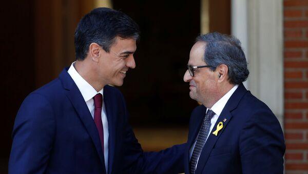 Pedro Sánchez e Quim Torra - Sputnik Italia