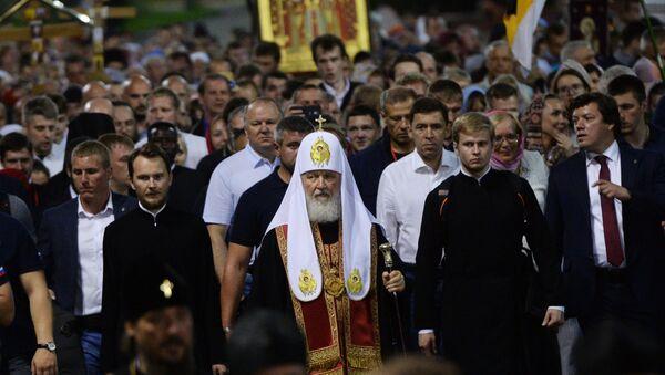 Ad Ekaterinburg celebrata cerimonia in memoria dello zar Nicola II dal patriarca Kirill - Sputnik Italia