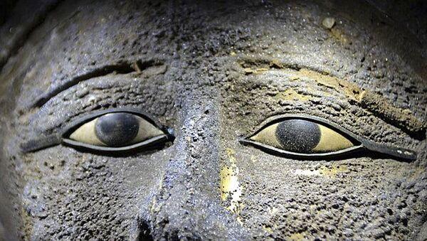 Маска жреца, найденная в одном из саркофагов в мастерской мумий на территории Саккары, Египет - Sputnik Italia