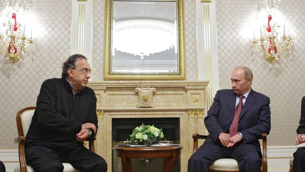 Sergio Marchionne e Vladimir Putin - Sputnik Italia
