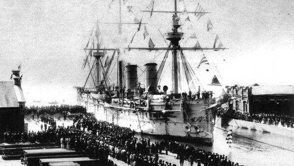 La nave Dmitri Donskoi a Vladivostok 1897 - Sputnik Italia