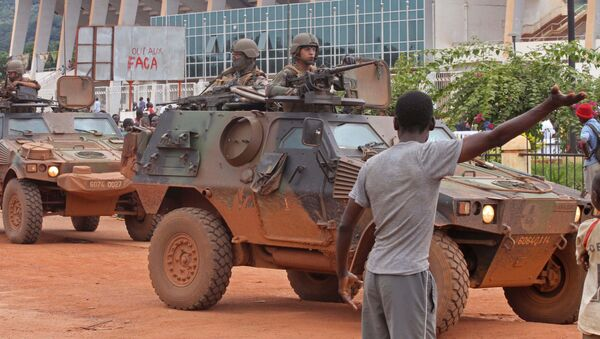 French peacekeeping soldiers patrol the city of Bangui, Central African Republic (File) - Sputnik Italia
