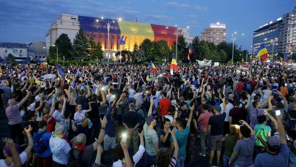 Le proteste a Bucarest in Romania - Sputnik Italia
