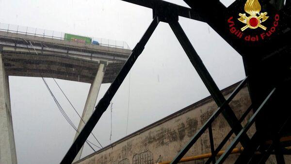 Il punto del crollo del viadotto Morandi - Sputnik Italia