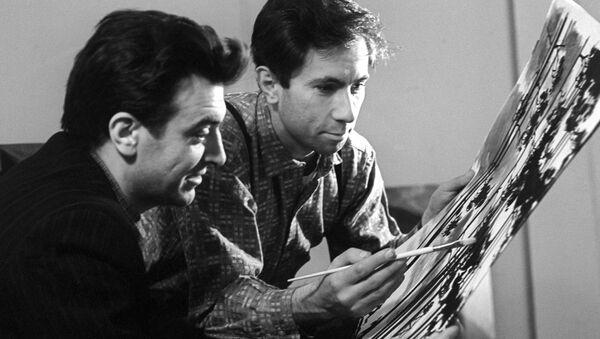 I disegnatori Oleg Savostiuk e Boris Uspensky - Sputnik Italia