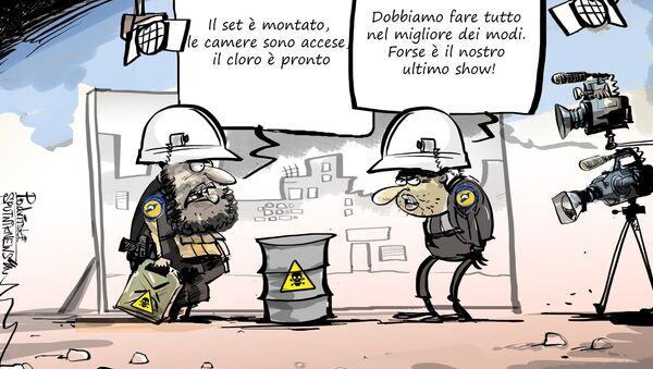 Ministero Difesa russo: preparazione messa in scena attacchi con armi chimiche in Siria - Sputnik Italia