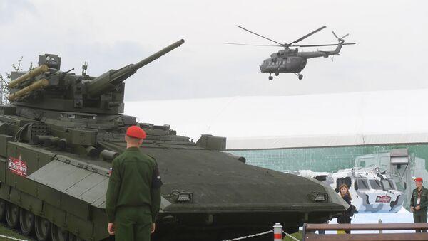 Il mezzo armato da combattimento T-15 sulla piattaforma universale di combattimento modulare Armata - Sputnik Italia