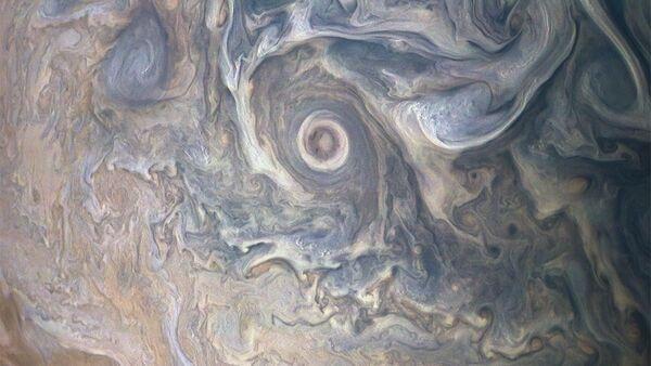 Foto del Polo Nord di Giove - Sputnik Italia