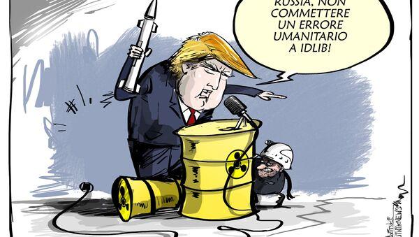 Trump mette in guardia la Russia: errore umanitario a Idlib - Sputnik Italia