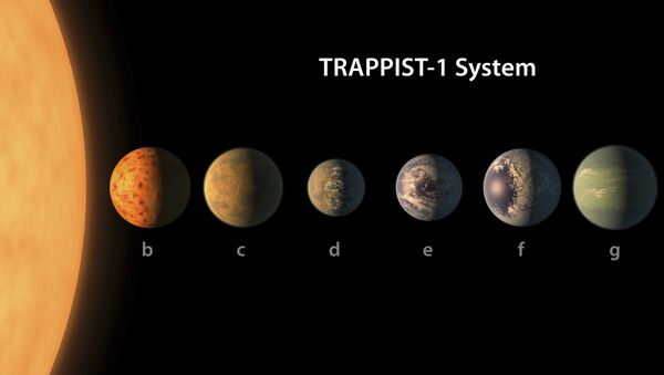 Artista presenta la sua versione del sistema planetario TRAPPIST-1 - Sputnik Italia