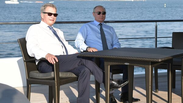 Il presidente finlandese Sauli Niinistö e il presidente russo Vladimir Putin - Sputnik Italia