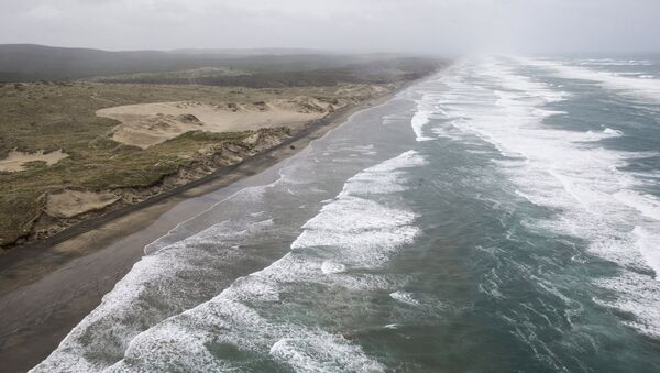 Muriwai beach is seen Sunday, Nov. 27, 2016 after the chartered fishing boat Francie disappeared off Auckland, New Zealand - Sputnik Italia