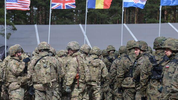 La cerimonia di benvenuto per il battaglione multinazionale della NATO con capo gli USA ad Orzysz, Polonia. - Sputnik Italia
