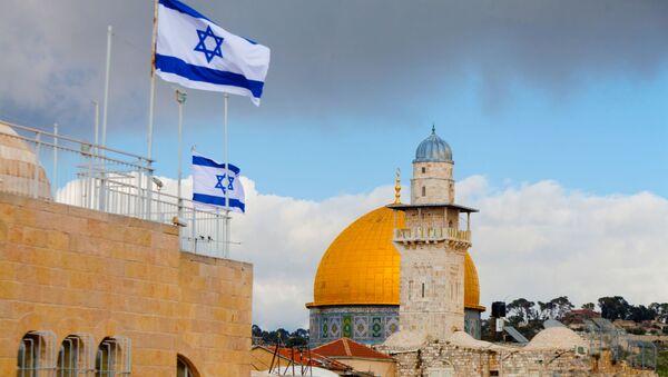 La bandiere israeliane a Gerusalemme - Sputnik Italia