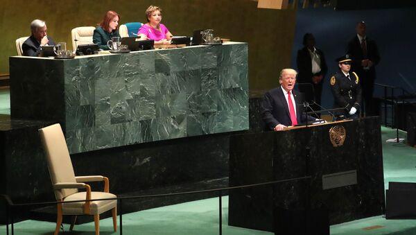 Donald Trump alla 73esima Assemblea generale delle Nazioni Unite - Sputnik Italia