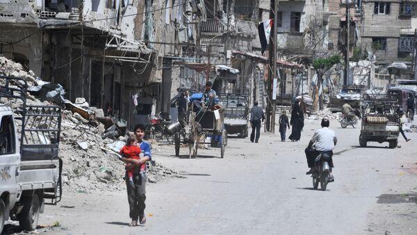 Il sobborgo di Damasco Douma visto dopo essere stato liberato dai militanti. - Sputnik Italia