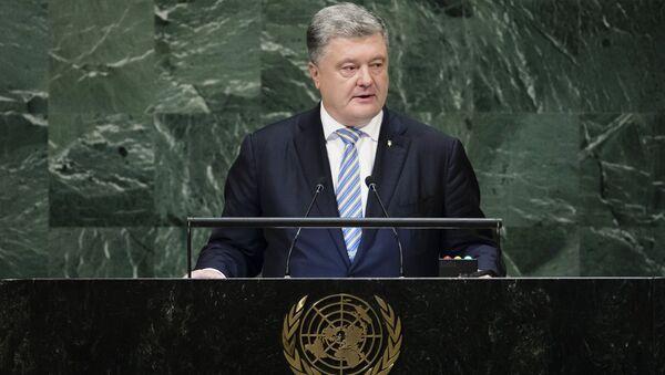 Il presidente ucraino Petro Poroshenko alla 73esima Assemblea generale delle Nazioni Unite - Sputnik Italia