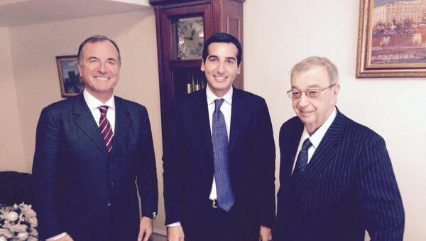 Franco Frattini, Andrea Gianotti e Evgenij Primakov - Sputnik Italia