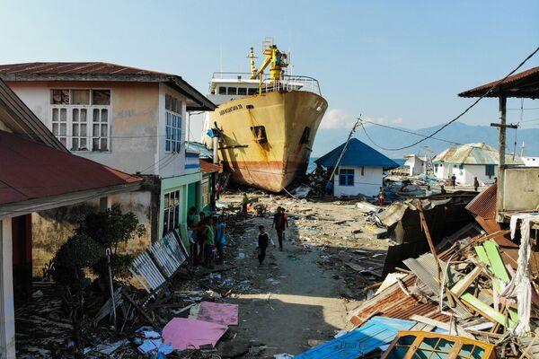 L'isola Sulawesi dopo il terremoto e lo tsunami, Indonesia. - Sputnik Italia