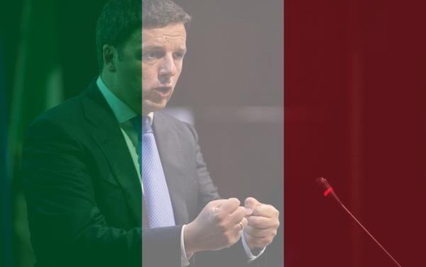 La foto del profilo Facebook di Matteo Renzi con i colori della bandiera italiana - Sputnik Italia