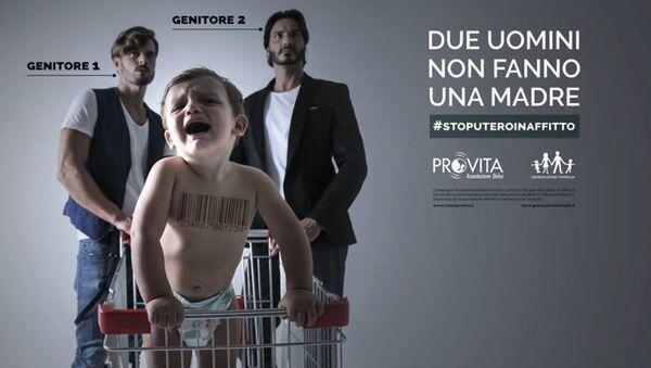 Manifesto Stop utero in affitto - Sputnik Italia