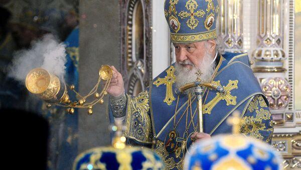 Il patriarca di Mosca e di tutte le Russie Kirill partecipa alla dedicazione di tempio a Minsk. - Sputnik Italia