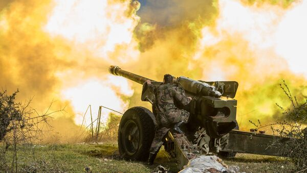 L'artiglieria pesante dell'esercito siriano - Sputnik Italia