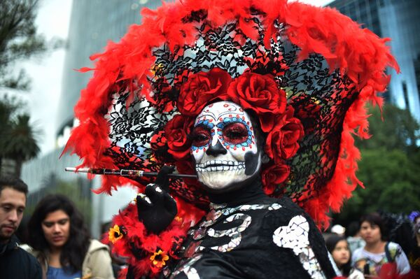 Le celebrazioni per il Giorno dei Morti, Città del Messico. - Sputnik Italia