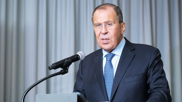 Russian Foreign Minister Sergei Lavrov at the 73rd session of the UN General Assembly at the United Nations headquarters in New York. - Sputnik Italia