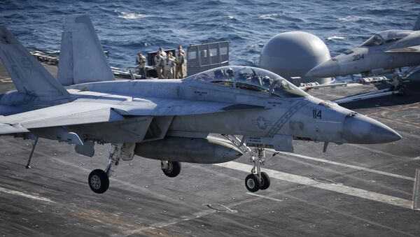 Cacciabombardiere F/A-18 della marina militare degli Stati Uniti - Sputnik Italia