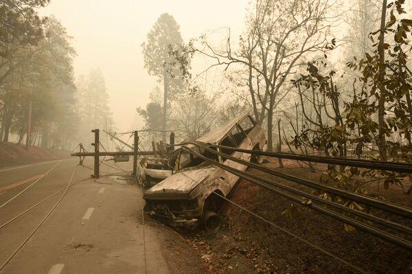 Le conseguenze degli incendi boschivi in California, USA. - Sputnik Italia