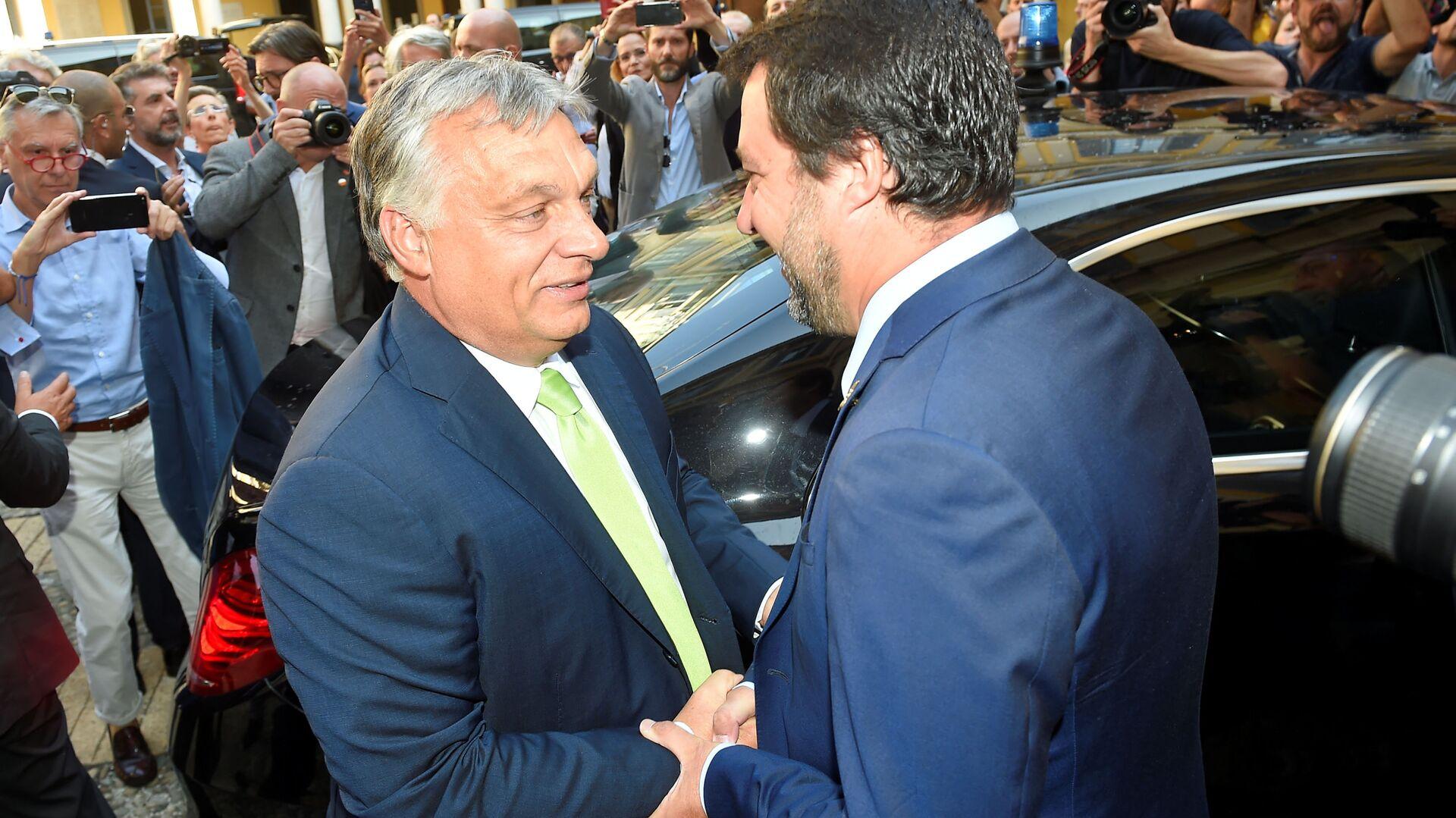 Viktor Orban e Matteo Salvini - Sputnik Italia, 1920, 02.07.2021