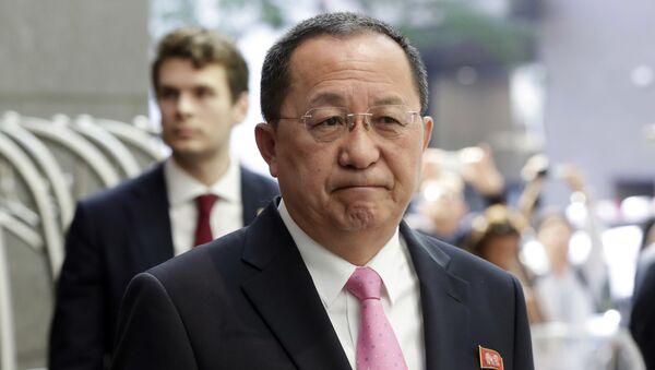Il ministro degli Esteri della Corea del Nord Ri Yong-ho - Sputnik Italia