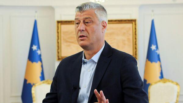 il presidente kosovaro Hashim Thaci - Sputnik Italia