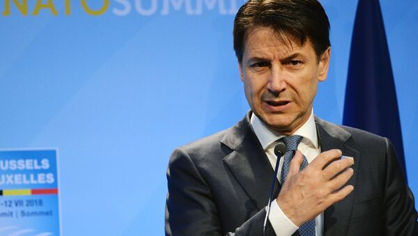 Prime Minister of Italy Giuseppe Conte at the NATO summit of heads of state and government, Brussels - Sputnik Italia
