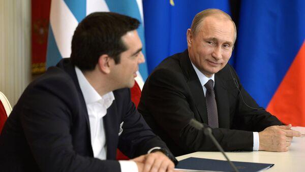 Il premier greco Alexis Tsipras e il presidente russo Vladimir Putin - Sputnik Italia