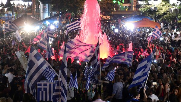 Celebrazioni dopo il referendum in Grecia - Sputnik Italia
