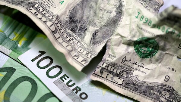 U.S. dollar and Euro banknotes are seen in this picture illustration taken May 3, 2018 - Sputnik Italia