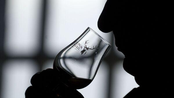 Uomo beve whisky scozzese - Sputnik Italia