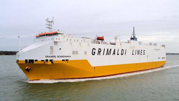 Una nave della Grimaldi Lines - Sputnik Italia
