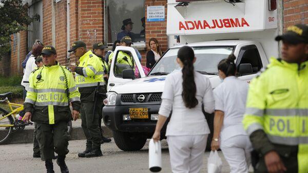 L a polizia e l'ambulanza in Colombia (foto d'archivio)  - Sputnik Italia