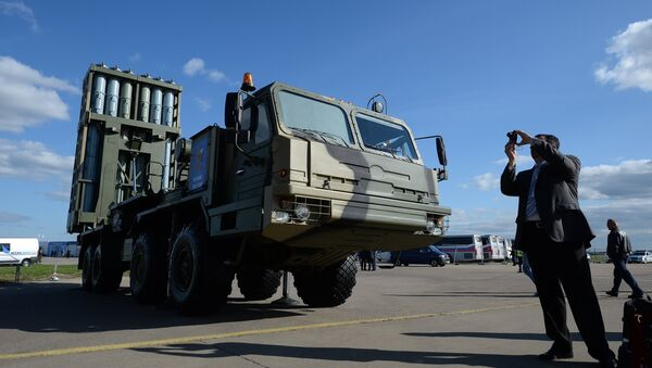 Anti-aircraft guided missile system Vityaz at the MAKS-2013 Air Show in Zhukovsky, the Moscow suburbs - Sputnik Italia