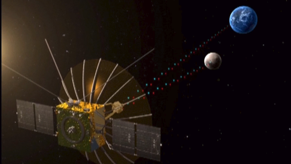 """Queqiao (鹊桥, """"Magpie Bridge""""), the relay satellite for the Chang'e-4 lunar mission, entered the planned halo orbit around the second Lagrangian (L2) point of the Earth-Moon system, about 65,000 km from the Moon, on 14 June 2018, at 03:06 UTC (11:06 Beijing time). - Sputnik Italia"""