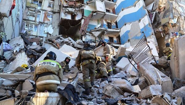 Casa colpita dall'esplosione a Magnitogorsk - Sputnik Italia