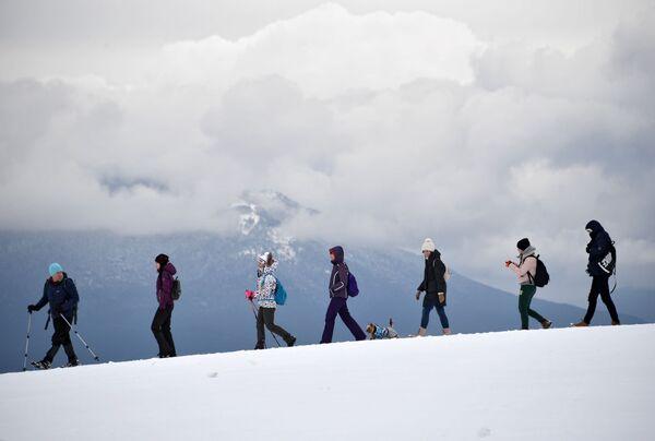 I turisti alla montagna Ai-Petri. - Sputnik Italia
