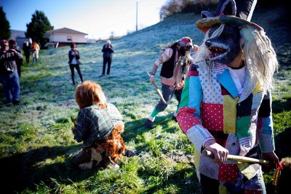Un festival invernale La Vijanera in Spagna. - Sputnik Italia